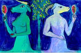 Gemini dualism art by Napoleon Brousseau