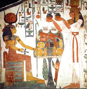 Nefertari makes offering to Isis