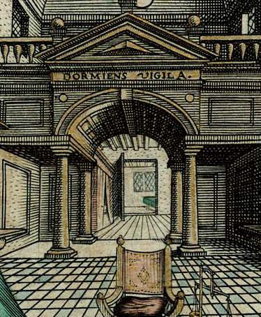 The bed in the laboratorum of Heinrich Kunrath