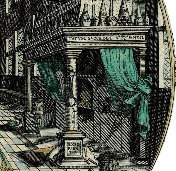 Pillars in the laboratorum of Heinrich Kunrath